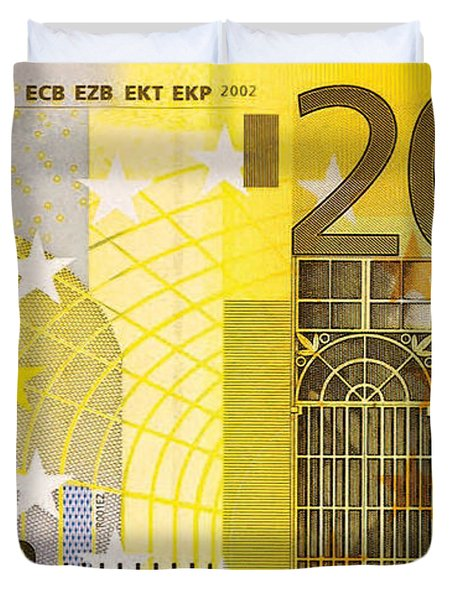 Two Hundred Euro Bill Duvet Cover
