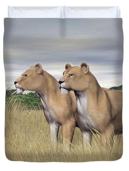 Two Hunters Duvet Cover