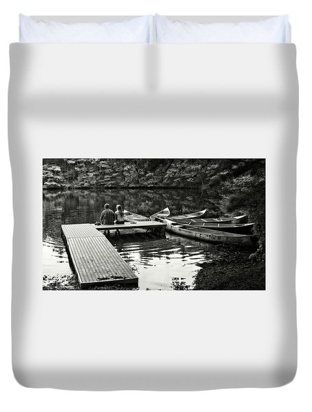 Two In A Boat Duvet Cover by Alex Galkin