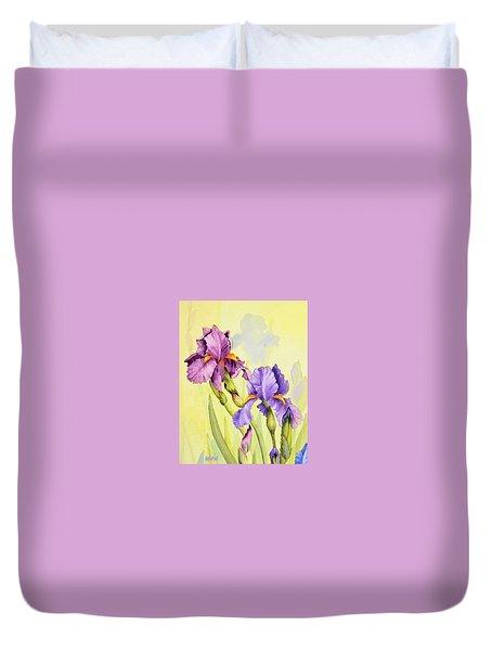 Two Irises  Duvet Cover