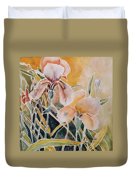 Two Irises Duvet Cover