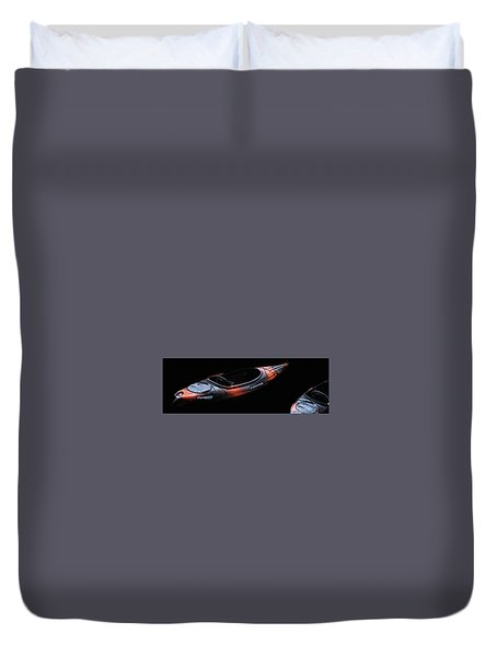 Two Kayaks - Isolated Duvet Cover