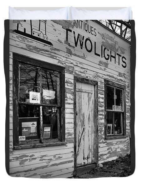 Two Lights Storefront Duvet Cover