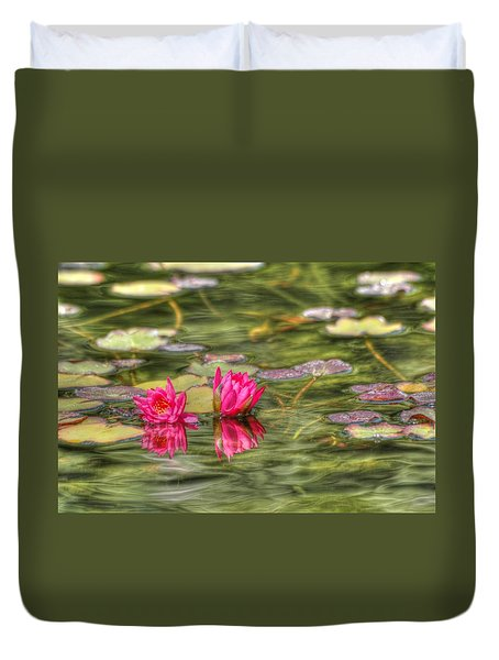 Two Lilies Duvet Cover