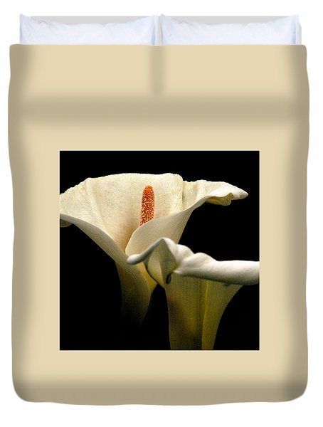 Two Lilies Square Duvet Cover