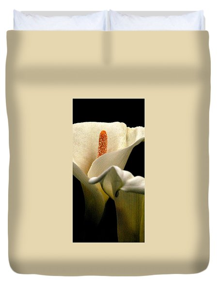 Two Lilies Tall Duvet Cover