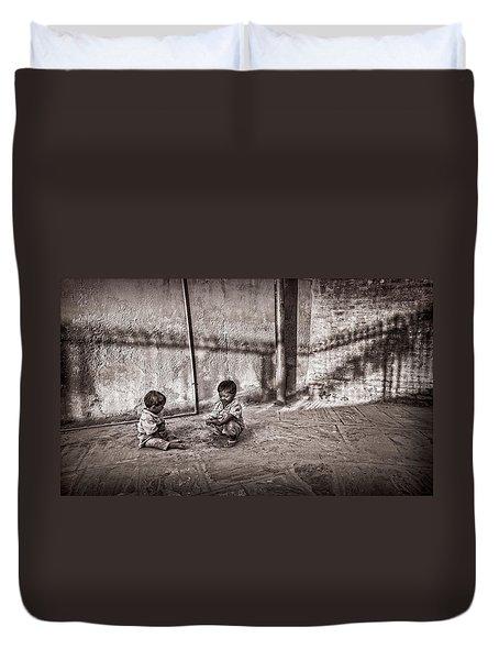 Two Little Boys Duvet Cover