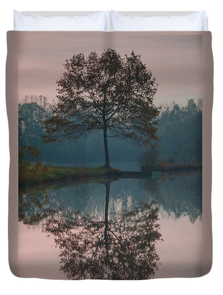 Duvet Cover featuring the photograph Two Loners by Davor Zerjav