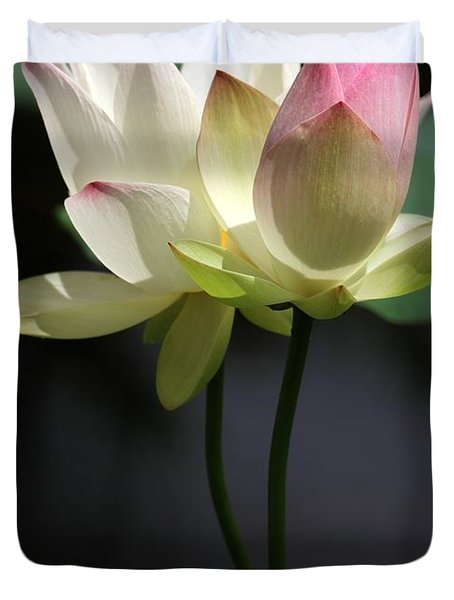 Two Lotus Flowers Duvet Cover