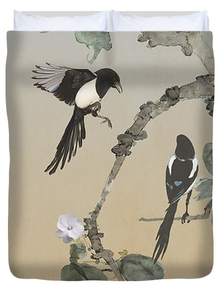 Two Magpies                       Duvet Cover