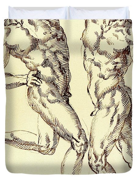 Two Male Nude Studies Duvet Cover
