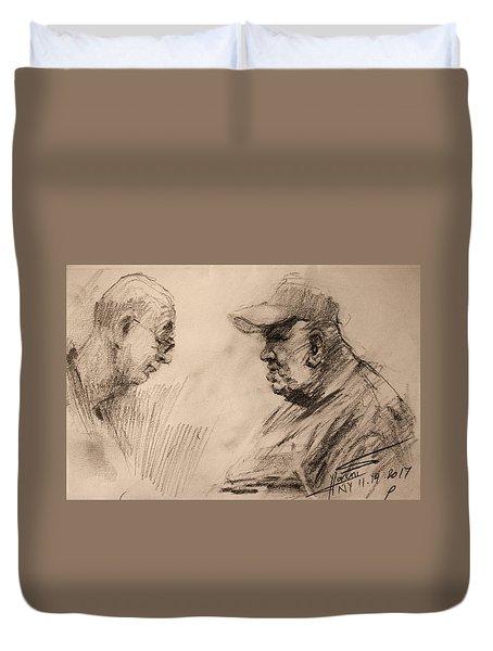 Two Men Duvet Cover