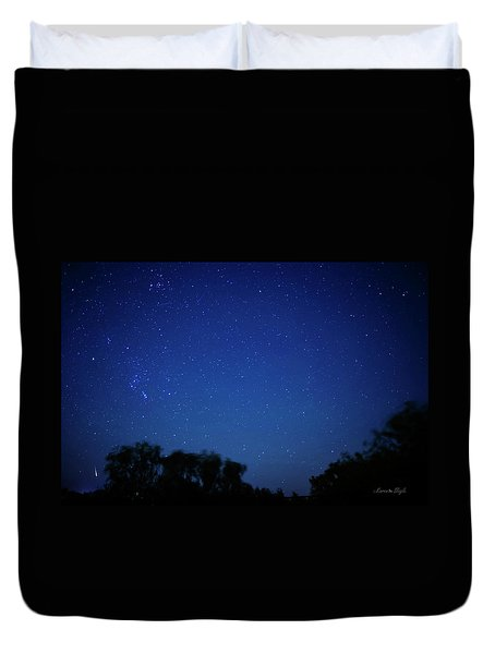 Two Meteors And A Fireball Duvet Cover