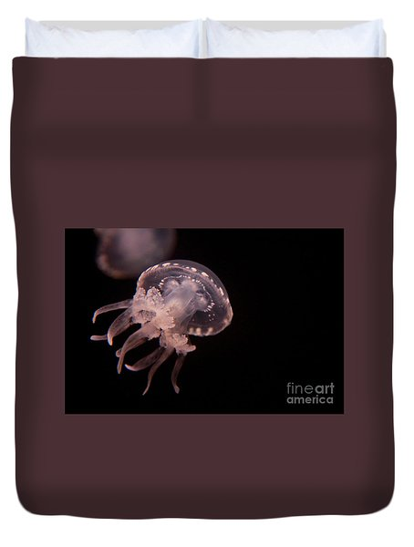 Two Moon Jellies Duvet Cover