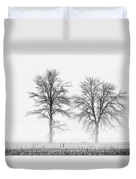 Duvet Cover featuring the photograph Two... by Nina Stavlund