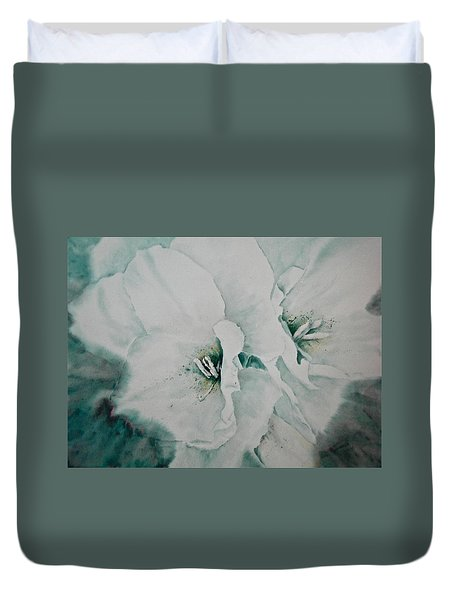 Two Of A Kind Duvet Cover by Carolyn Rosenberger