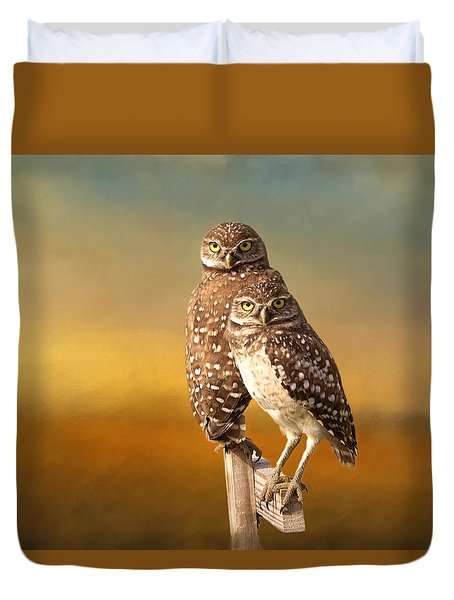 Two Of Us Duvet Cover by Kim Hojnacki