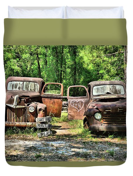 Two Old Dogs Duvet Cover