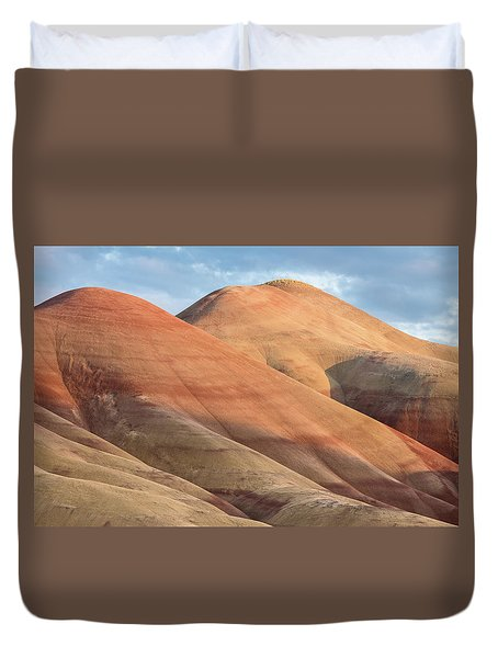 Duvet Cover featuring the photograph Two Painted Hills by Greg Nyquist