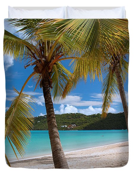 Two Palms Duvet Cover