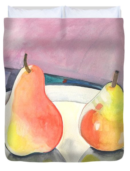 Two Pears Duvet Cover
