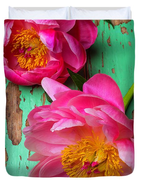 Two Peony's Duvet Cover