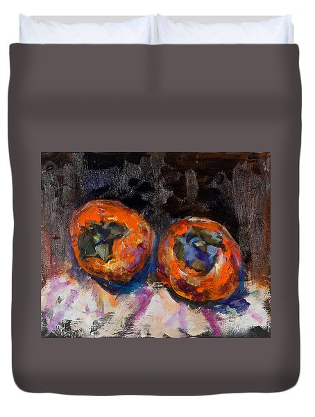 Two Persimmons Duvet Cover