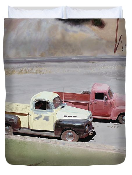 Two Pickups Duvet Cover