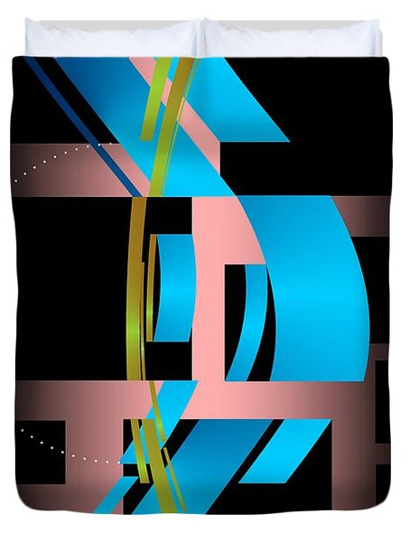 Duvet Cover featuring the digital art Two Possibilities by Leo Symon