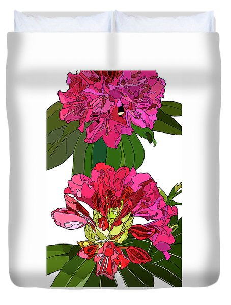 Two Rhododendrons Duvet Cover