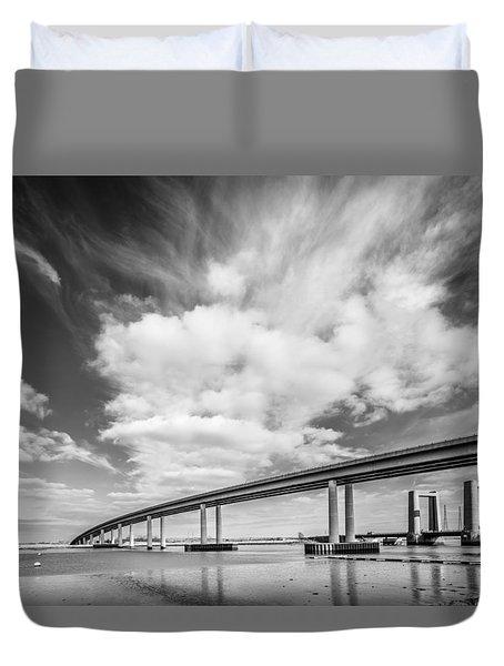 Two River Bridges Duvet Cover