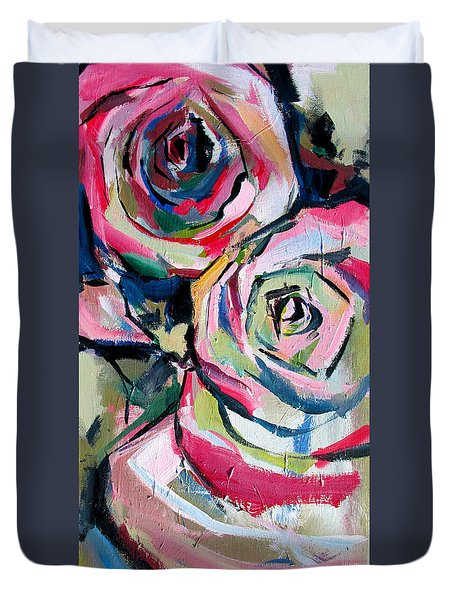 Two Roses Duvet Cover