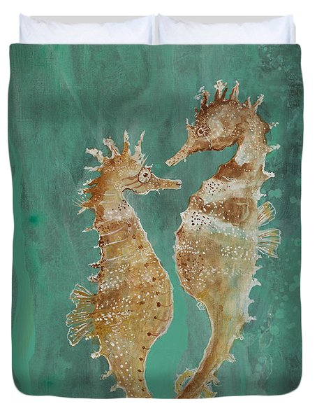 Two Seahorse Lovers Duvet Cover