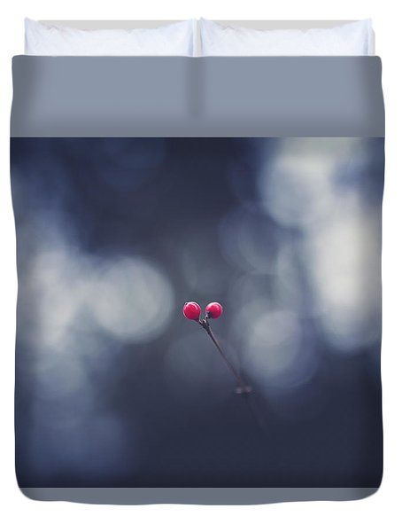 Duvet Cover featuring the photograph two by Shane Holsclaw