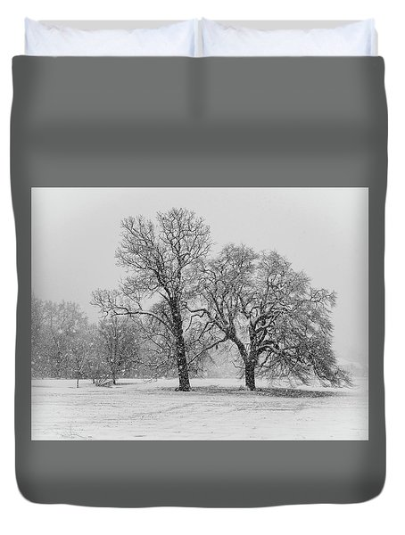 Two Sister Trees Duvet Cover