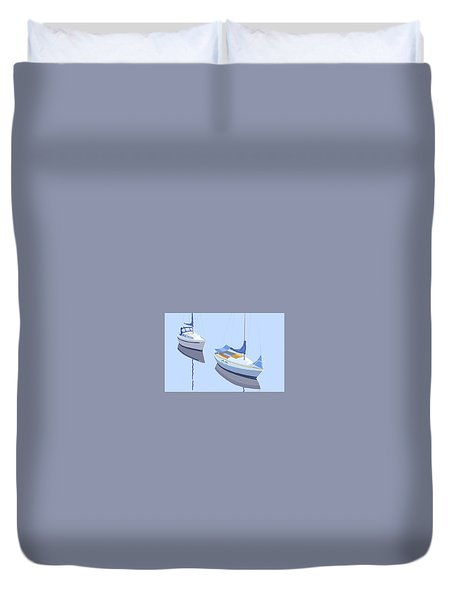 Two Sloops Duvet Cover