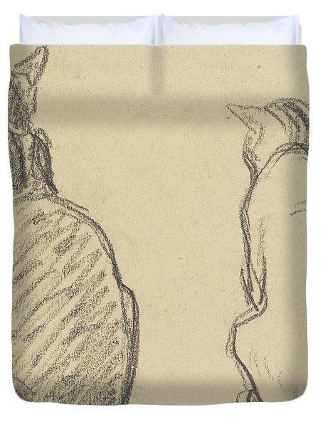 Two Studies Of A Cat Duvet Cover