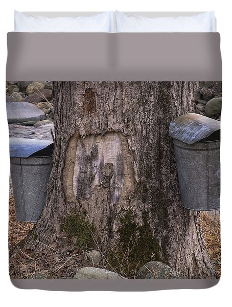 Two Syrup Buckets Duvet Cover