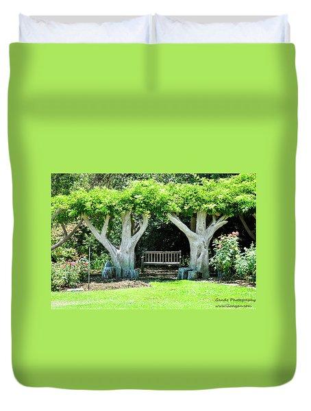 Two Tall Trees, Paradise, Romantic Spot Duvet Cover