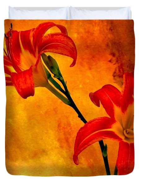 Two Tigerlilies Duvet Cover