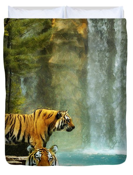 Two Tigers Duvet Cover