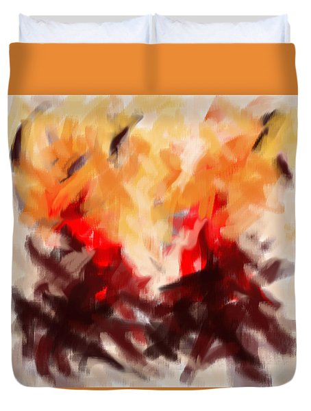 Two To Tango Abstract Duvet Cover