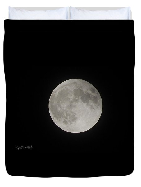 Two-tone Gray Moon Duvet Cover