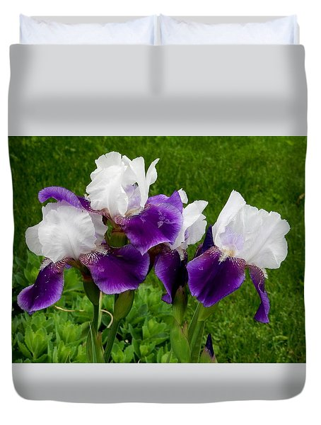 Duvet Cover featuring the photograph Two Toned by Betty-Anne McDonald