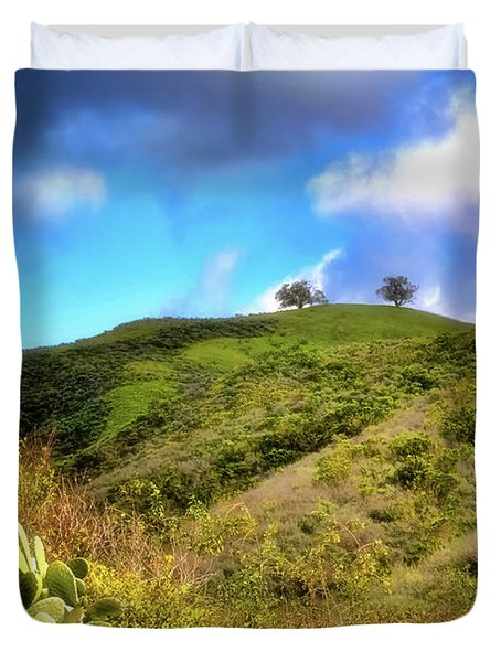 Two Trees In Spring Duvet Cover