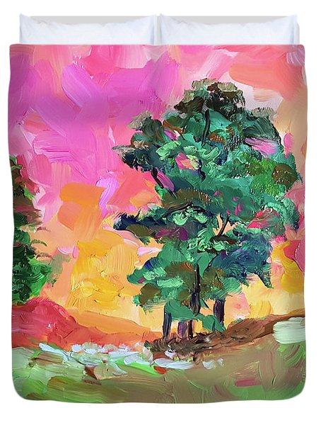 Two Trees Duvet Cover