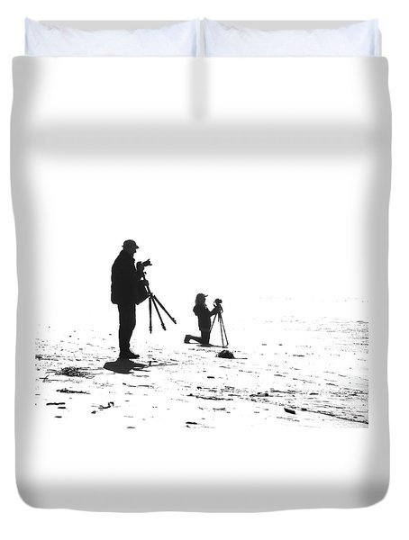 Two Tripods Duvet Cover