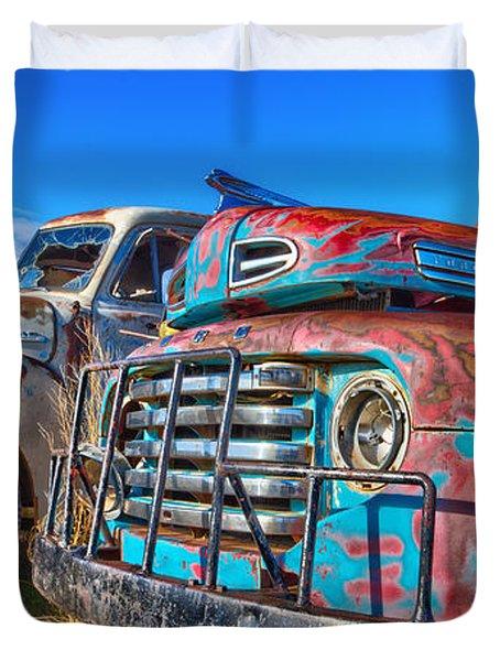 Two Trucks Duvet Cover