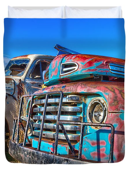 Two Trucks Duvet Cover