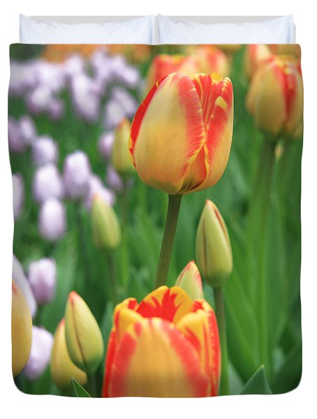 Two Tulips Duvet Cover